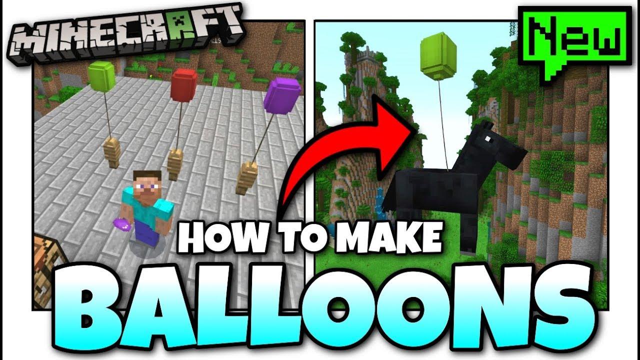 Minecraft - HOW TO MAKE BALLOONS [ Tutorial ][ Chemistry ] MCPE / Xbox /  Bedrock