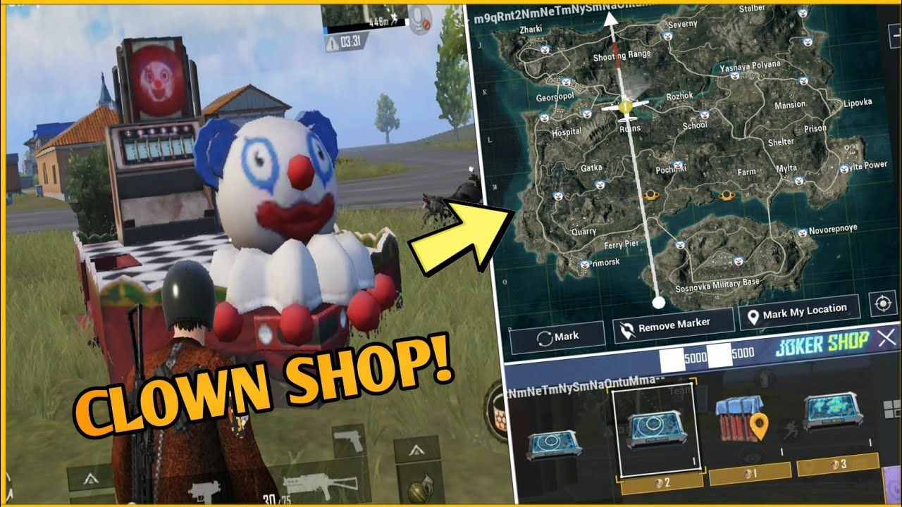 Pubg Mobile New Clowns Tricks | How Top Use Clown Shop In Pubg Mobile -  YouTube