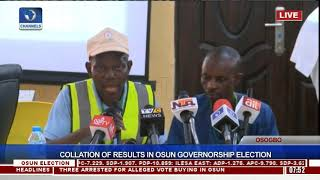 Collation Of Results In Osun Governorship Election Pt.22  Osun Decides 