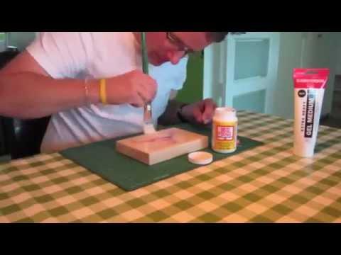Fabulous Zelf een foto op hout maken - YouTube #EZ98