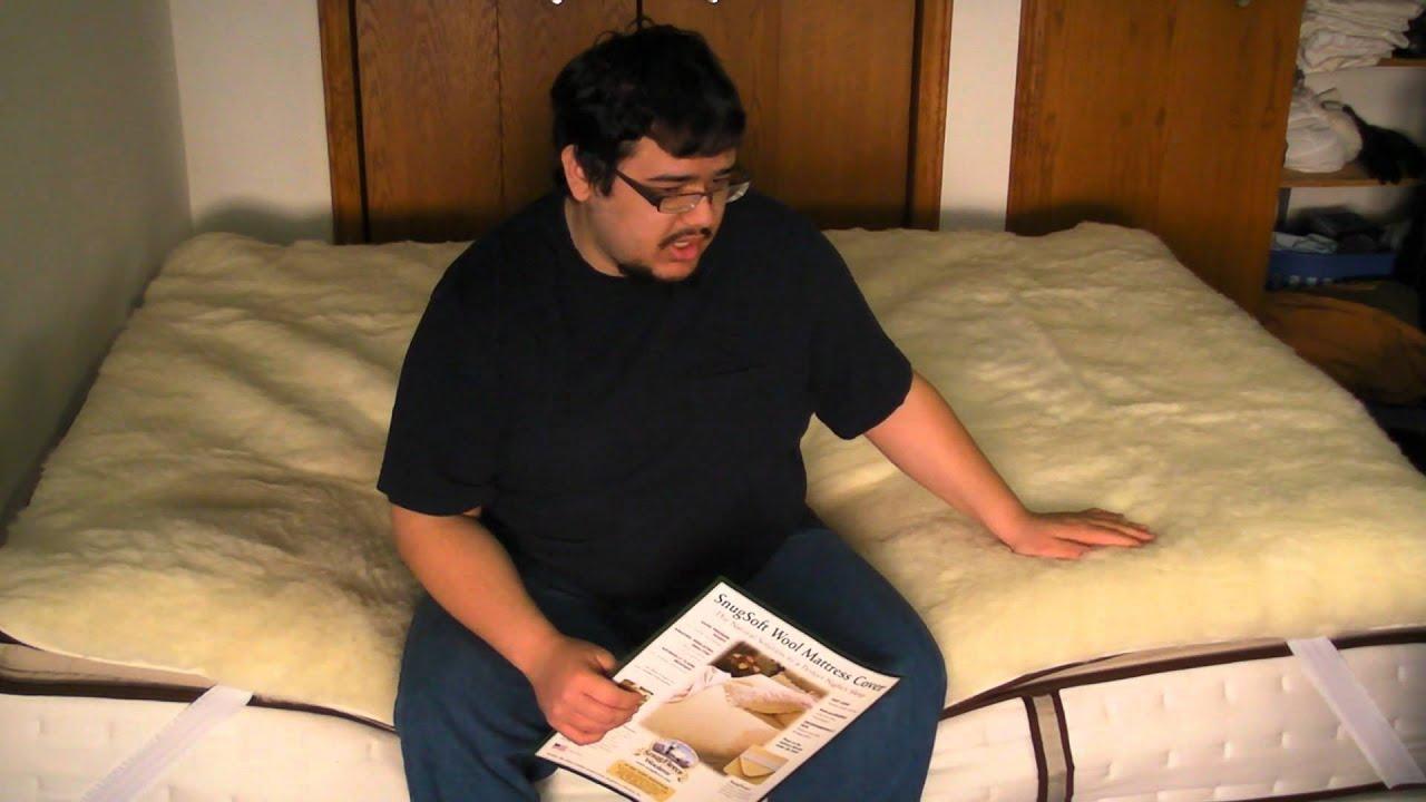 snugfleece elite wool mattress pad review - youtube