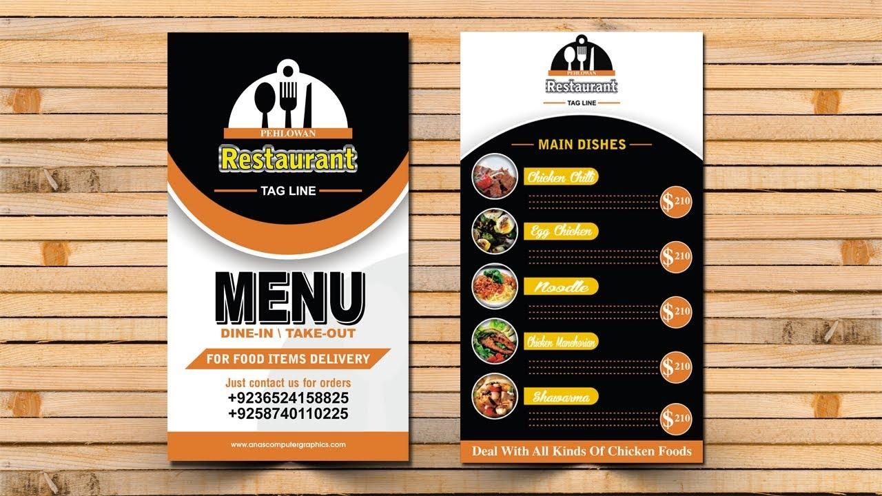 Restaurant fast food menu design [Corel Draw] - full Hindi ...