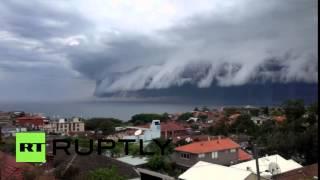 """Veja """"Tsunami de Nuvens"""" na Costa de Sydney na Austrália"""