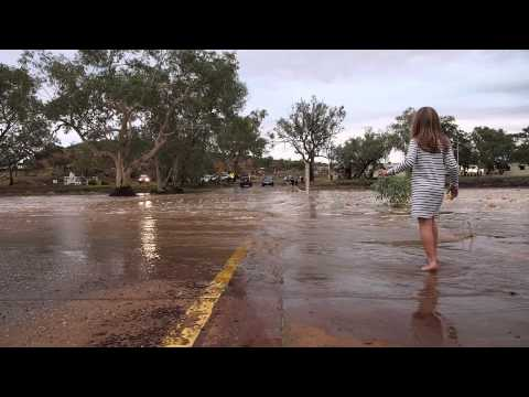 Todd River in Alice Springs flows for the first time since December 2012