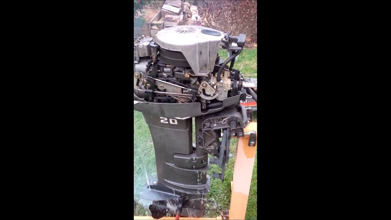 1985 20hp mariner outboard youtube rh youtube com 20 hp mariner outboard repair manual 1973 Mariner 20 HP Outboard