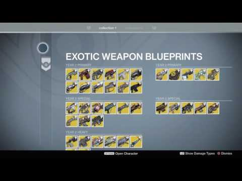 EVERY EXOTIC WEAPON IN YEAR 2 AND 1 - Destiny