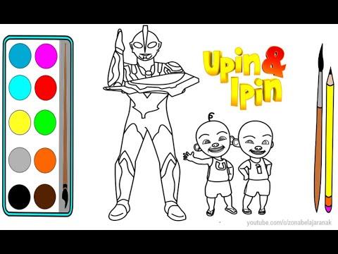 Upin Dan Ipin Menggambar Dan Mewarnai Upin Ipin Dan Ultraman Ribut Youtube