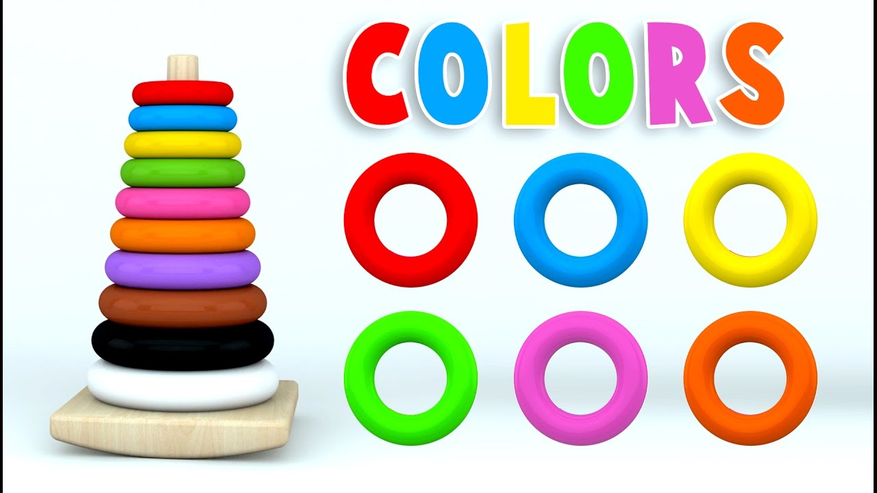 Download Learn Colors with Color Stack Rings and More Colours Videos for Children