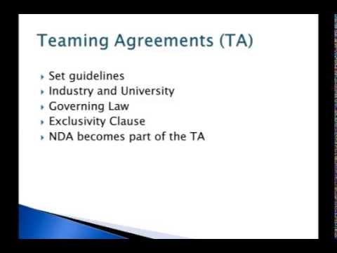 Non-disclosure Agreements and Teaming Agreements