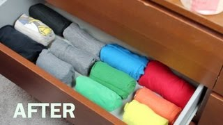 Roll Fold T-Shirts (Inspired By the Military Roll or Army Roll)
