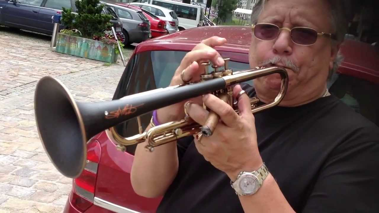 Skip Martin-Arturo Sandoval playing my signature trumpet without mouthpiece!!!!!!!