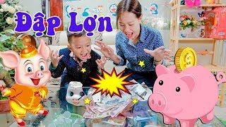 Đập Lợn Đầu Năm – Dạy Bé Sử Dụng Tiền Lì Xì ❤ BonBon TV ❤ Đập Heo Đất
