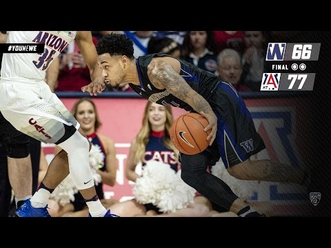 Highlights: Washington Falls Short to No. 7 Arizona, 77-66, in Tucson
