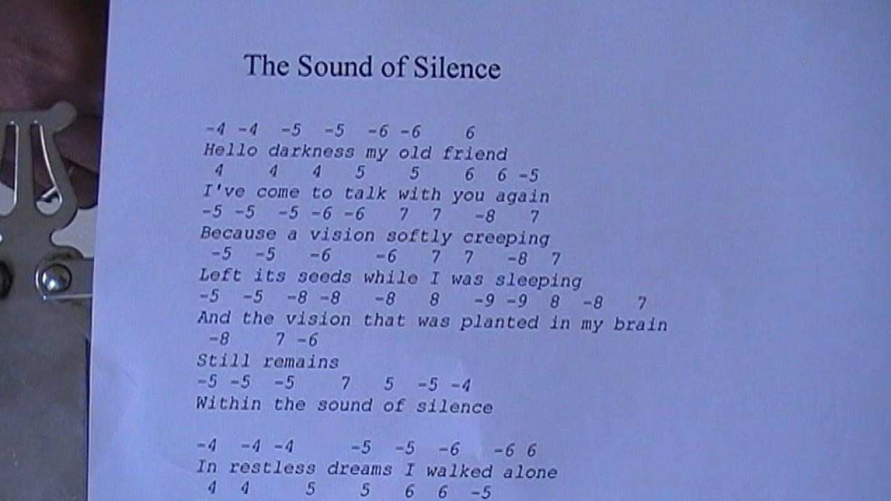 Sound Of Silence Backingtrack In Dm For C Harmonica Invallen Na De