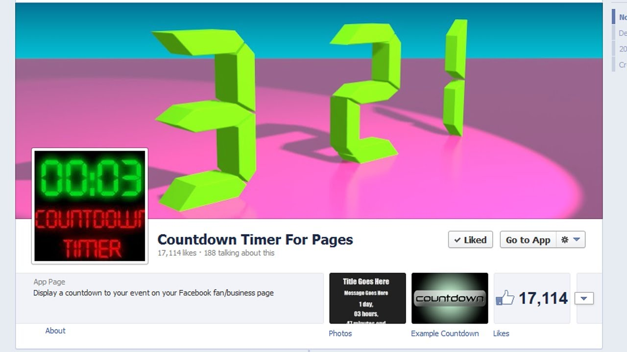 How to install a countdown timer app to your Facebook Fan/Business Page  [Updated]