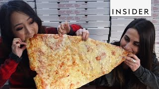 Take a Bite of this 20-Foot Long Penne Pizza Slice