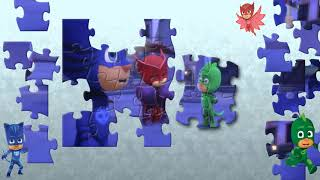 Paw Patrol Transform into PJ Masks -  Catboy Gekko Owlette and Chase Skye Rubble Puzzles For Kids