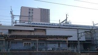 山陽新幹線 N700系 広島到着
