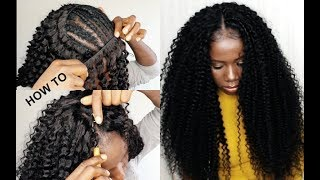 HOW TO : CROCHET Method On Sew In Weave NO Leave Out TUTORIAL FOR BEGINNERS