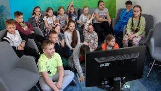 Dzieci z SP nr 2 w redakcji 'Mojej Ostrołęki'