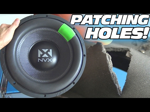 REPAIR HOLES in Subwoofer Surrounds w/ CHEAP FOAM from Walmart | HOW TO Fix a Torn Speaker Tutorial
