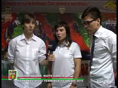 ONTV: Ternana Femminile – Presentazione Maite Garcia – Interviste