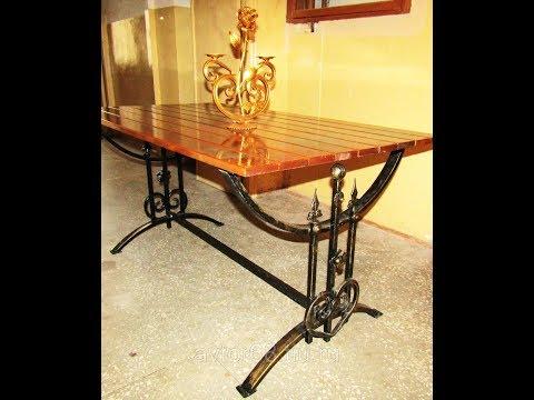 Стол с ковкой изготовление на заказ