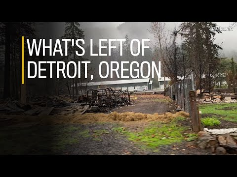 What's left of downtown Detroit, Oregon