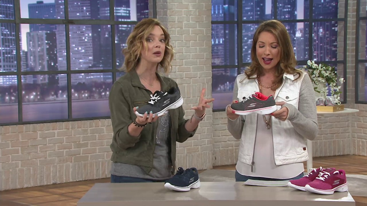 d89f983284 Skechers GOwalk 4 Knit Lace-up Sneakers - Exceed on QVC