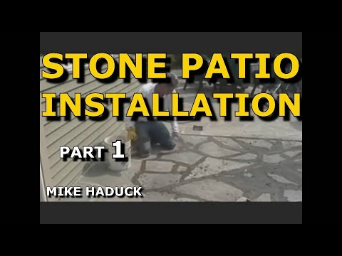 How I install a stone patio with cement Part 1 of 3