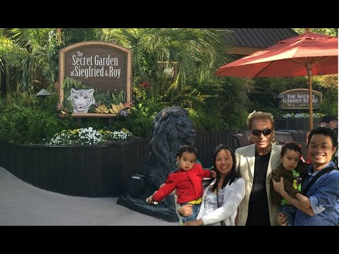 Siegfried & Roy Secret Gardens Mirage Las Vegas:  Vegas Video for kids