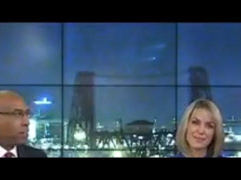 UFO seen during Portland Oregon KOIN 6 newscast!