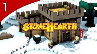 Stonehearth ALPHA 19 - A VILA DE PEDRA!  #1( GAMEPLAY / PC / PTBR PORTUGUÊS ) HD