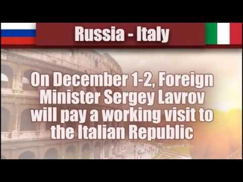 Sergey Lavrov to visit Italy