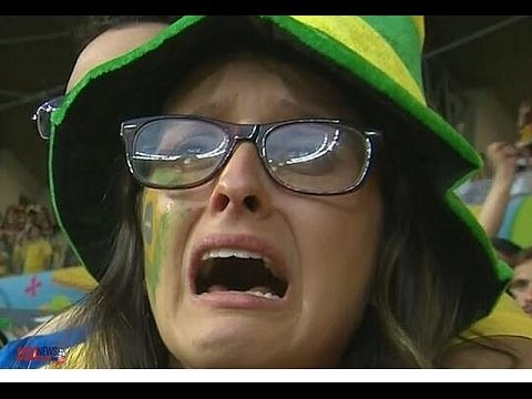 Brazil vs Germany 1-7 2014 - Top 10 Saddest Brazil Fans Crying