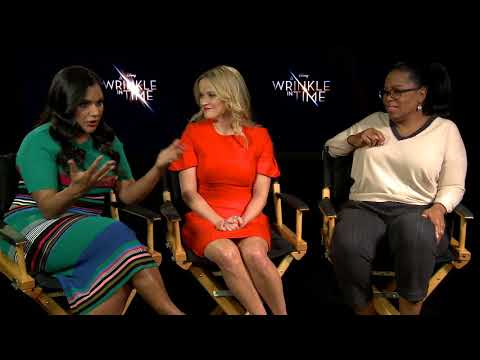 A Wrinkle In Time: Oprah Winfrey, Reese Witherspoon, Mindy Kaling Movie interview