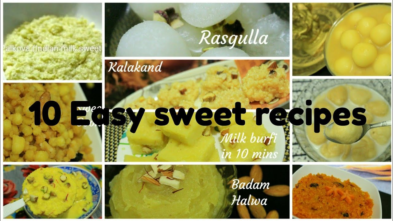 10 sweets from which you will not spread