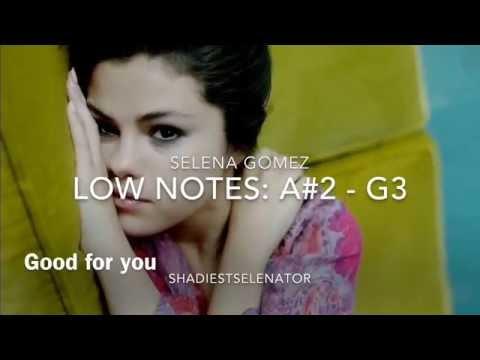 Selena Gomez Live Vocal Range A#2 - G5 - (A6)
