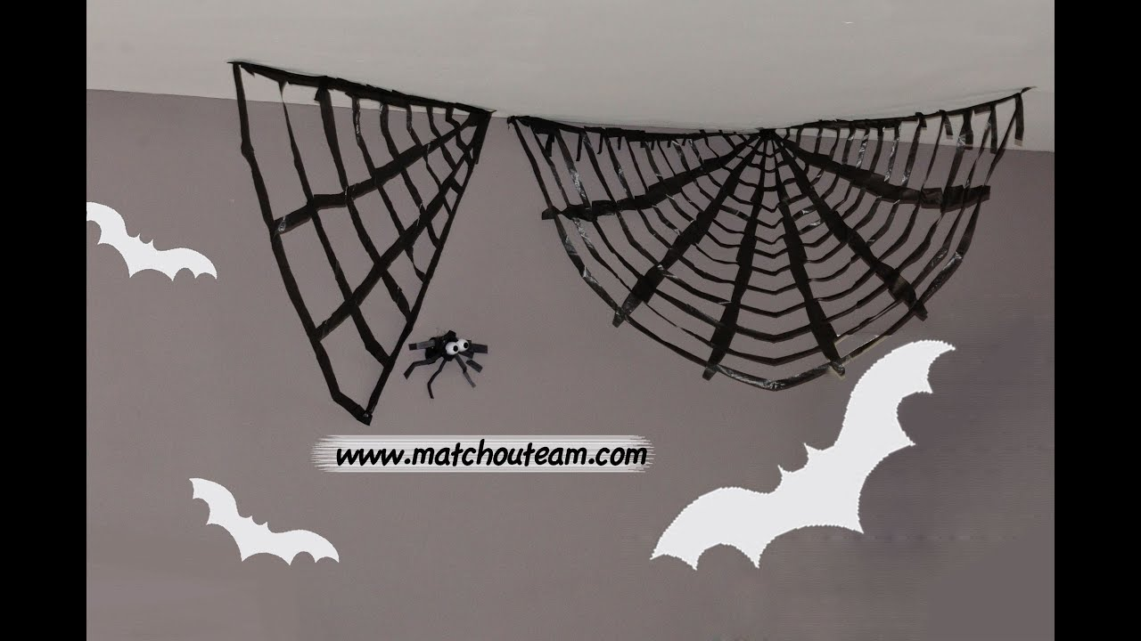 halloween toile d 39 araign e g ante youtube. Black Bedroom Furniture Sets. Home Design Ideas