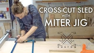Making a Cross Cut Sled // Miter Jig // Stop Block // T-Track // Woodworking