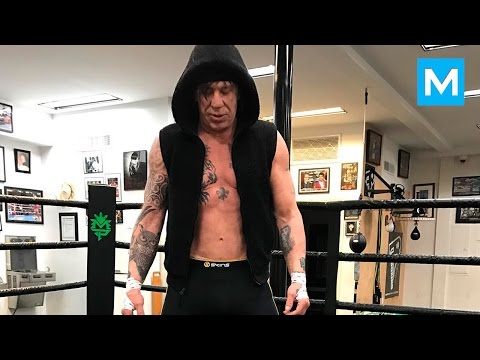 Mickey Rourke Train Like a BEAST  Muscle Madness