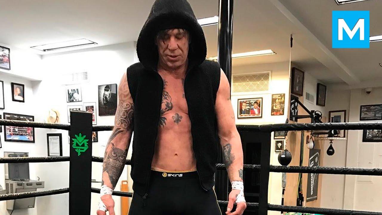 Mickey Rourke Train Like a BEAST   Muscle Madness - YouTube