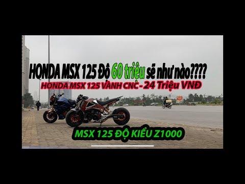 MSX 125 ĐỘ LÙN HẾT 60 TRIỆU, VÀNH CNC TẠI MIỀN BẮC l REVIEW MSX 125 ĐỘ KHỦNG QUÂN BÉO MOTOR