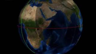 The path of the half shadow (penumbra) of the solar eclipse on 1/15/2010