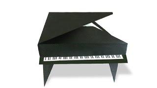 Cách gấp, xếp cái đàn grand piano bằng giấy origami - Video hướng dẫn