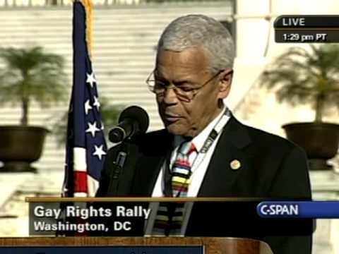 National Equality March Rally: Julian Bond (NAACP) speaks Pt.2