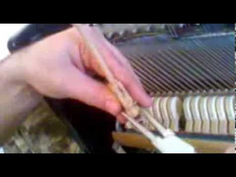 A repair of upright piano hammer.Ремонт молоточка пианино. Смещение штифта в посадочном месте