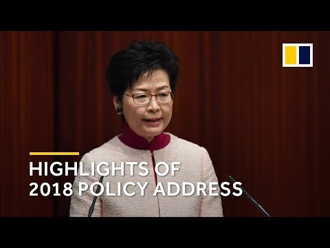 Carrie Lam's policy address 2018: the highlights