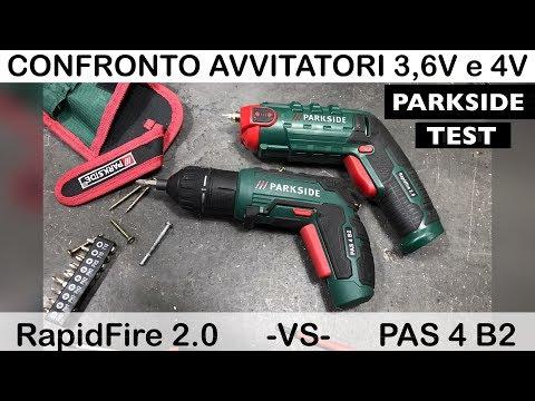 Screwdriver comparison PARKSIDE lidl. PAS 4 B2. Test of 3.6V and 4V. RAPIDFIRE 2.0