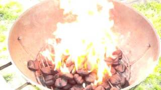 Gasoline-covered coals igniting at 240fps (#2)